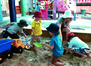Laura in sandpit 2